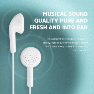 KIVEE Tai nghe nhét taiTai nghe có dây đa năng kèm mic với hiệu ứng âm thanh Hifi đầu cắm 3.5mm tương thích với OPPO Samsung Xiaomi Huawei(MT39 MT50 MT37 MT51Y MT53Y) thumbnail