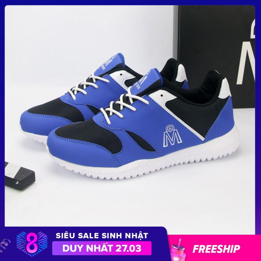 Giày thể thao nam Muidoi G145 (Đen) giày nam đẹp đế siêu nhẹ giá rẻ