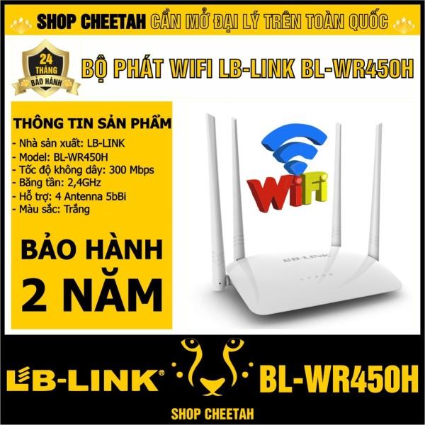 Bộ phát wifi LB-Link Router Wifi – BL-WR450H – – bảo hành 24 tháng – 4 Antenna 5bBi ngoài, đảm bảo cung cấp các sản phẩm đang được săn đón trên thị trường hiện nay