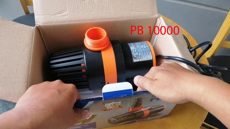 [Khuyến mại 3 ngày] Máy bơm hồ Koi  Periha PB 10000 siêu tiết kiệm điện - Bơm công suất lớn - Điều chỉnh lưu lượng nước- Bơm đặt chìm - Tặng kèm đầu chia ống các cỡ [Bảo hành dài hạn]