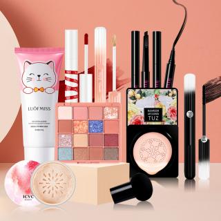 TUZ-Bộ mỹ phẩm 9 món cơ bản giá tốt-(Sữa rửa mặt + Phấn nước BB Cream + Bảng phấn mắt 16 màu+ Phấn phủ trang điểm + Kem che khuyết điểm + Bút phấn mắt đen + Kẻ mắt + Mascara + Son môi) thumbnail