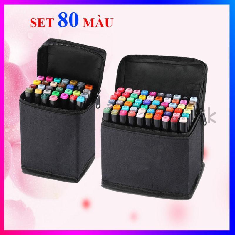 Mua Bộ bút màu Touch 7, bút dạ màu anima cao cấp - Set 80 màu + có kèm theo túi đựng