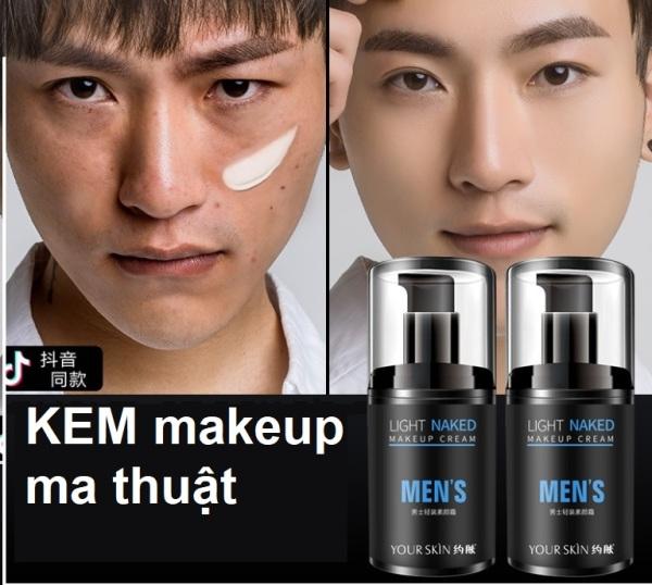 Lazycream Kem Che Khuyết Điểm Makeup Nâng Tone Che Khuyết Điểm Da 3in1 Cho Nam YOURSKIN light makeup