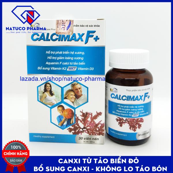 Viên Uống Bổ Sung Canxi, cho bà bầu + Vitamin D3, Vitamin K2 Calcimax F+ Phát triển hệ xương, chắc khỏe xương, giảm loãng xương - Hộp 30 viên Sử dụng cho bà bầu, trẻ em và người lớn giá rẻ