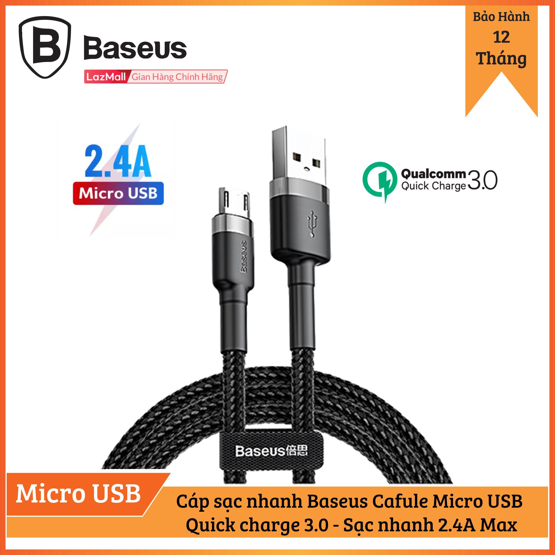 Giá Cáp Sạc Baseus sạc Nhanh Micro USB Cho Smartphone Android 2.4A Baseus Cafule
