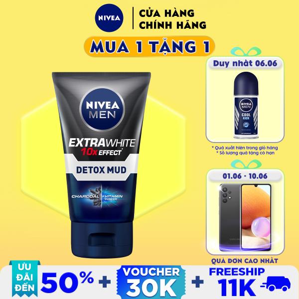 Sữa Rửa Mặt NIVEA MEN Detox Mud Bùn Khoáng Giúp Sáng Da & Mờ Thâm Mụn (100G) - 81775
