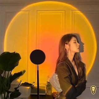HOT TIKTOK ĐÈN LED chiếu hiệu ứng bình minh hoàng hôn, mặt trời làm đèn DECOR trang trí, có thể điều chỉnh độ cao thumbnail