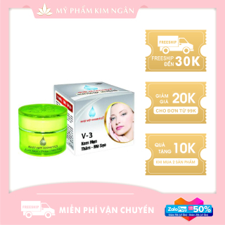 Kem Nhật Việt V3 Mụn, Mờ Thâm, Liền Sẹo, Ngọc Trai Đen, Sữa Ong Chúa (8g) - Mỹ Phẩm Kim Ngân thumbnail