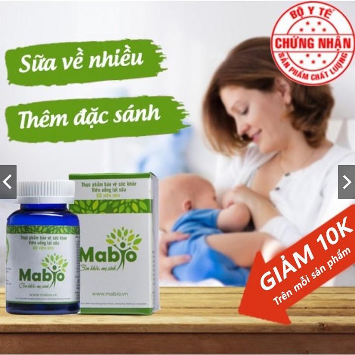 Viên Uống Lợi Sữa Mabio  Hỗ Trợ Nâng Cao Chất Lượng Sữa Mẹ nhập khẩu