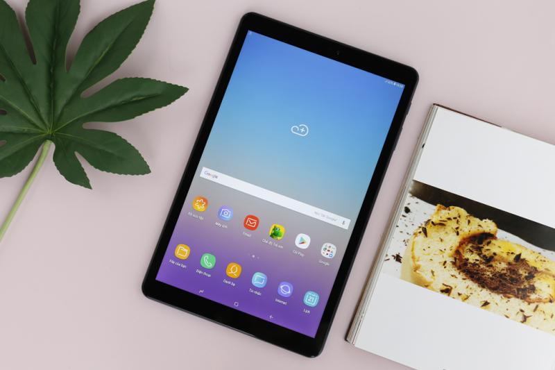 Máy tính bảng Samsung Galaxy Tab A 10.5 đời 2018 wifi [add sẵn 2 phần mềm học online tienganh123, luyenthi123 bản quyền trọn đời máy], Độ phân giải full hd màn hình 10.5Inch, Chip xử lý Snapdragon, pin lên tới 7300 chính hãng