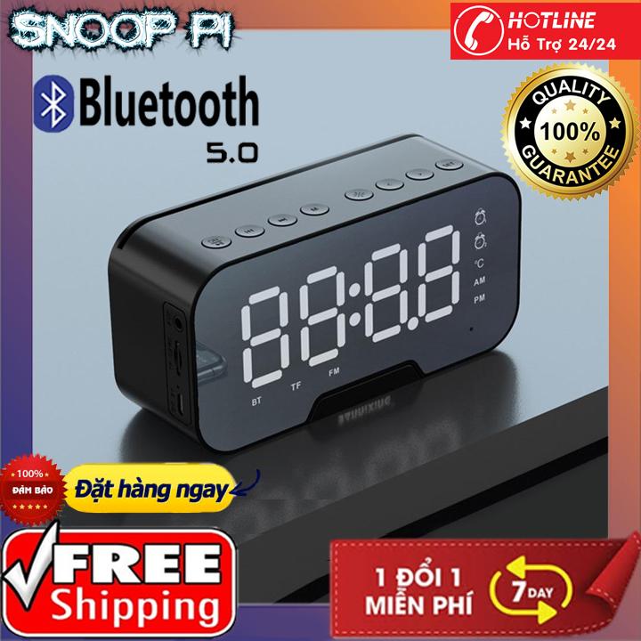 Loa Bluetooth Amoi G5-loa bluetooth 3 trong 1 kèm đồng hồ báo thức,nhiệt độ, loa âm thanh siêu hay, bass trầm ấm, pin trâu có thể làm gương soi,giá đỡ điện thoại tương thích với mọi hệ điều hành iOs android