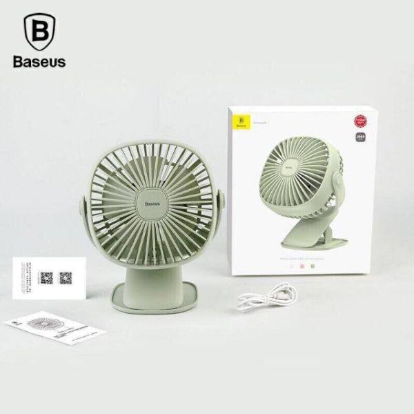 Quạt tích điện có đèn kẹp bàn xoay 360 độ mini hand fan Baseus zw2816, cam kết hàng đúng mô tả, chất lượng đảm bảo an toàn đến sức khỏe người sử dụng, đa dạng mẫu mã