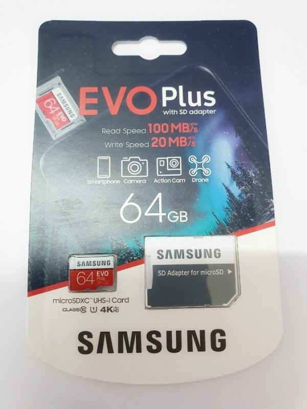 Thẻ nhớ MicroSDXC Samsung EVO Plus 64GB 100MB/s (New 2020)