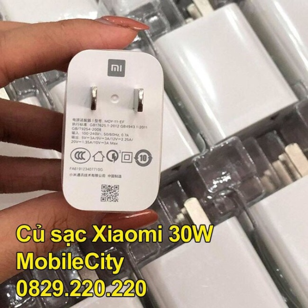 Cáp, củ sạc nhanh Xiaomi 18W, 27W, 30W, 33W - [Giá rẻ tại Hà Nội, Tp.HCM, Đà Nẵng - MobileCity]