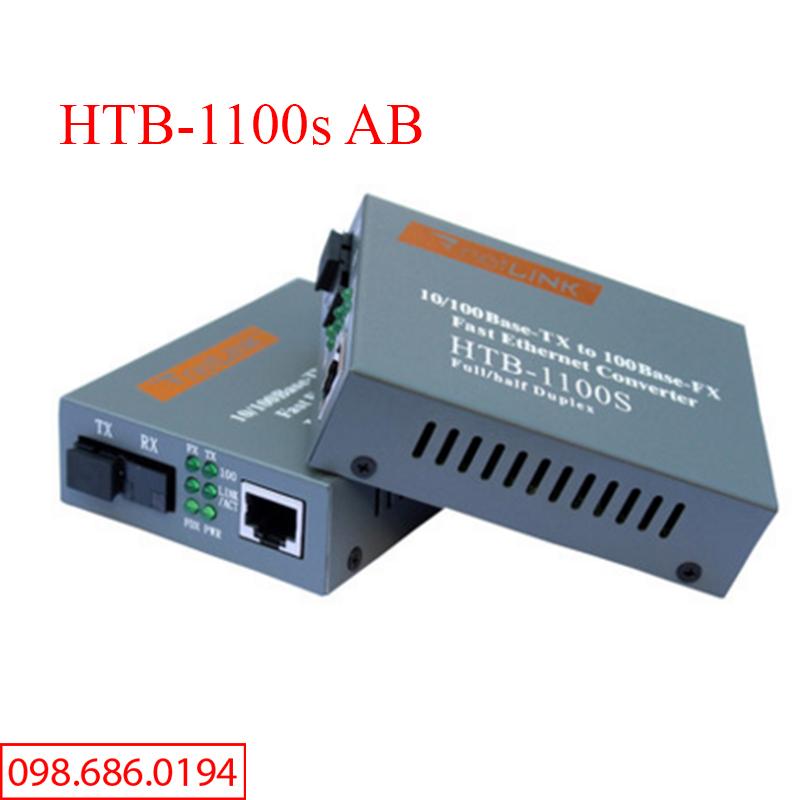 Bảng giá Cặp Converter quang HTB-1100s AB nâng cấp chất lượng - Kèm nguồn Phong Vũ