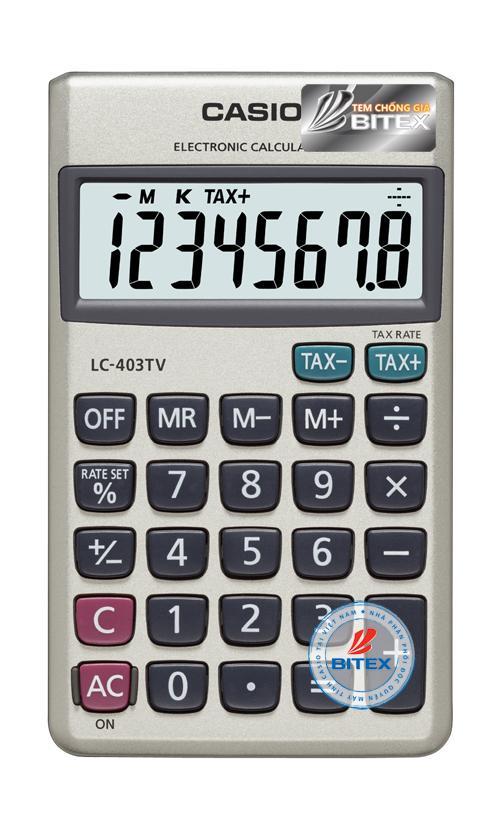 Mua Máy tính Casio LC-403 (Casio LC 403) - N/k bởi Bitex - B/hành 02 năm