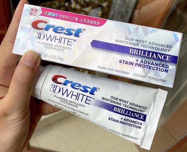 Kem đánh răng siêu trắng Crest 3D White Brillance 116g Hàng Tmall (Tiếng Trung) giá rẻ
