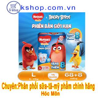 Tã quần Huggies size L 68 miếng (9-14kg) mẫu mới đệm mây 4 chiều Angry Birds thumbnail
