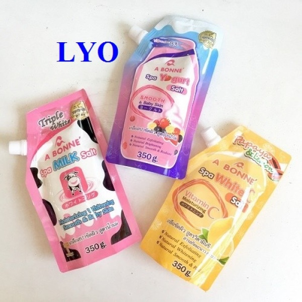 Muối Tắm Sữa Bò vitamin c yo gurt Tẩy Tế Bào Chết A Bonne Spa Milk Salt Thái Lan - 350gr