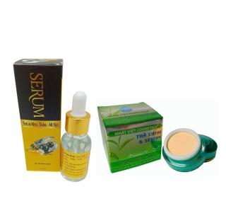 Combo Liệu Trình Da Mụn Hiệu Quả, Kem Mụn Trà Xanh 13gr, Serum Mụn Sữa Ong Chúa 15ml - Kim Ngan Cosmetics Co., Ltd thumbnail