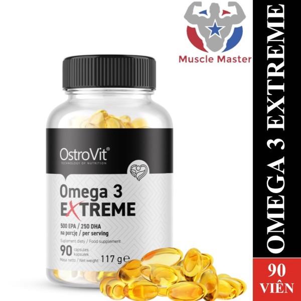 [HCM]Viên Dầu Cá Siêu Cô Đặc Ostrovit Omega 3 Extreme 500 EPA / 250 DHA 90 Viên