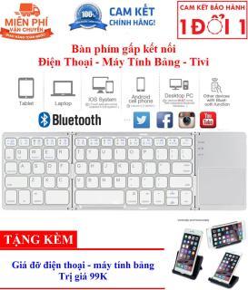 Quà Tặng Kèm Hấp Dẫn - Bàn phím không dây Bluetooth B033 có touchpad gấp gọn cho điện thoại máy tính bảng PC Laptop Android box - B033 Portable Folding Wireless Keyboard Bluetooth Rechargeable BT Touchpad Keypad For Smartphone Tablet thumbnail