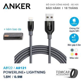 Cáp sạc nhanh Anker powerline+ lightning dài 09m và 18m0 cho iPhone iPad [Có bao da] - A8121 -A8122, được thiết kế để chịu được bất kỳ giật, xoắn, kéo dài thumbnail