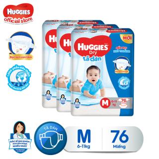 Combo 3 tã dán Huggies Diapers Super Jumbo M76 thumbnail