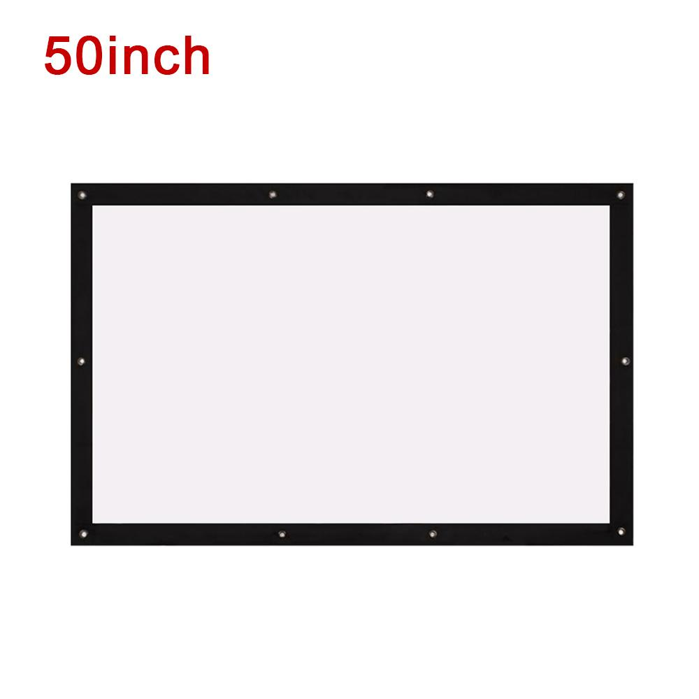 Folded Projection Screen Movie Screen Durable Portable 16:9 Polyester School