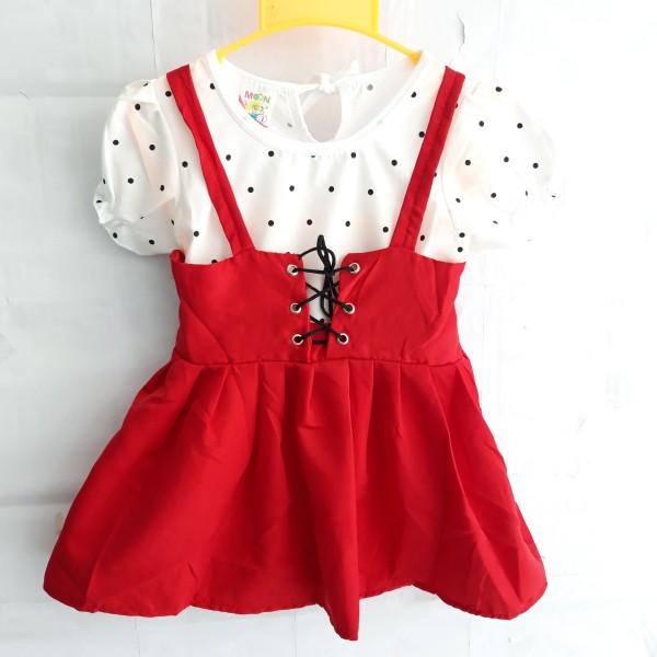 Giá bán Đầm yếm cho bé gái 8-18kg, tay ngắn, áo sọc, thời trang mua thu, mặc thường ngày. KIM SHOP 2020