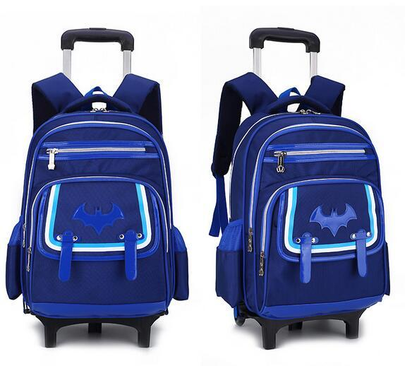 ZX-Children S Trolley School Bag Can Climb Stairs Backpack
