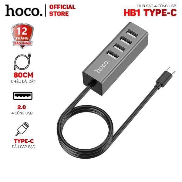 Bảng giá Hub sạc Hoco HB1 chia 4 cổng USB 2.0 dài 80cm Phong Vũ