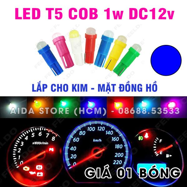 Bóng đèn led T5 COB gắn kim, mặt đồng hồ xe máy, ô tô DC12v