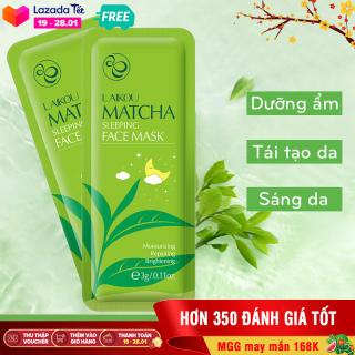 [Giá dùng thử] Set 3 miếng mặt nạ dưỡng da trà xanh LAIKOU dưỡng ẩm và chống lão hóa mặt nạ dưỡng da mặt nạ ngủ matcha mặt nạ nội địa Trung XP-MN131 thumbnail