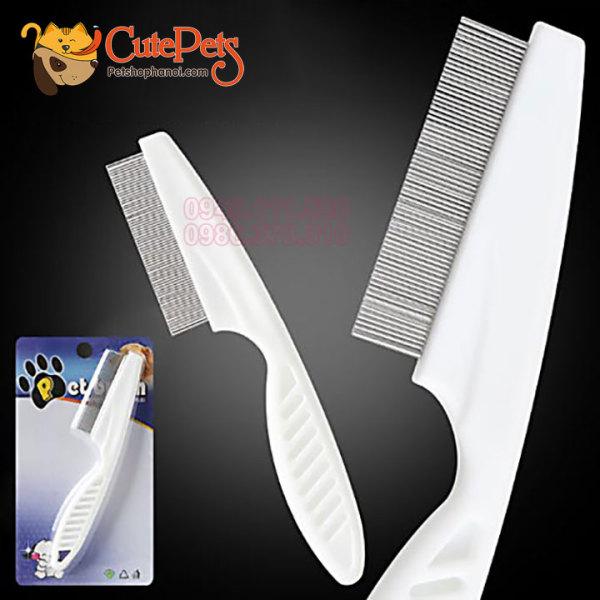 Lược chải ve rận - lược chải lông chó mèo - phụ kiện thú cưng