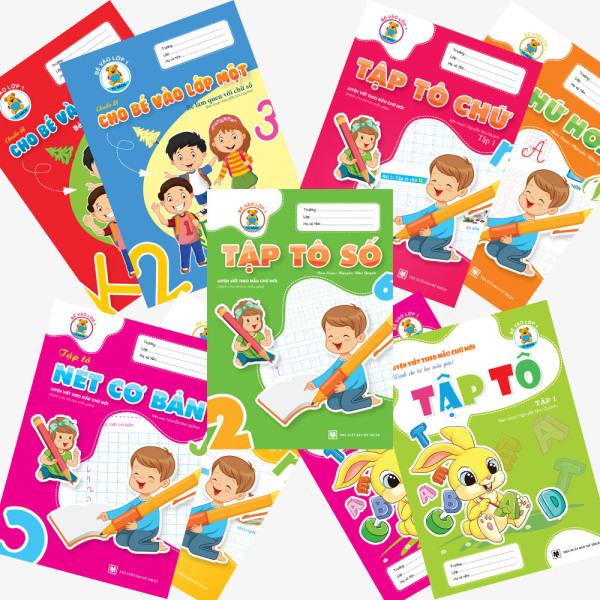 Mua Combo 9 cuốn Tập tô - Tập viết chữ - Làm quen chữ cái/chữ số (Chuẩn bị vào lớp 1)
