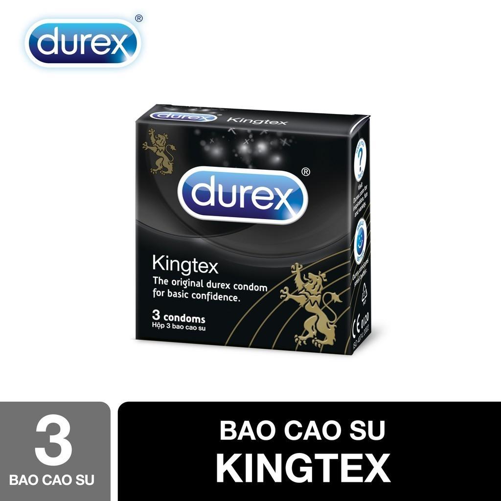 Bao cao su Durex Kingtex 3s - Hãng phân phối chính thức cao cấp