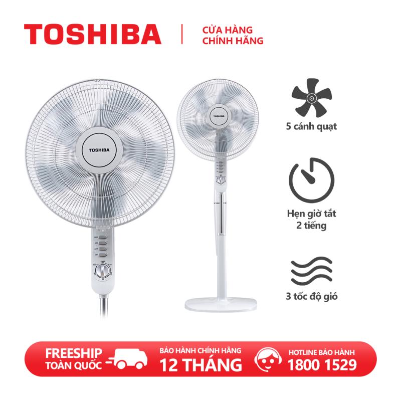 Quạt đứng Toshiba F-LSA10(H)VN 50W- 5 cánh - Hẹn giờ tắt - Góc đảo gió 85 độ - Hàng chính hãng, bảo hành 12 tháng, chất lượng Nhật Bản