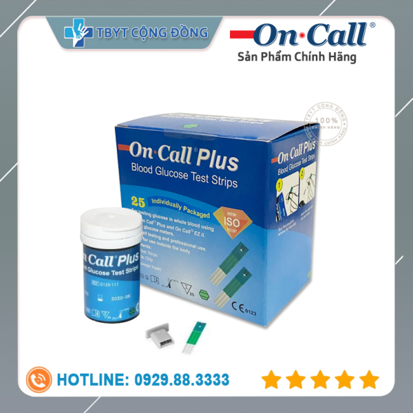 Que thử đường huyết Acon On call Plus lọ 25 que (Xanh trắng) cao cấp