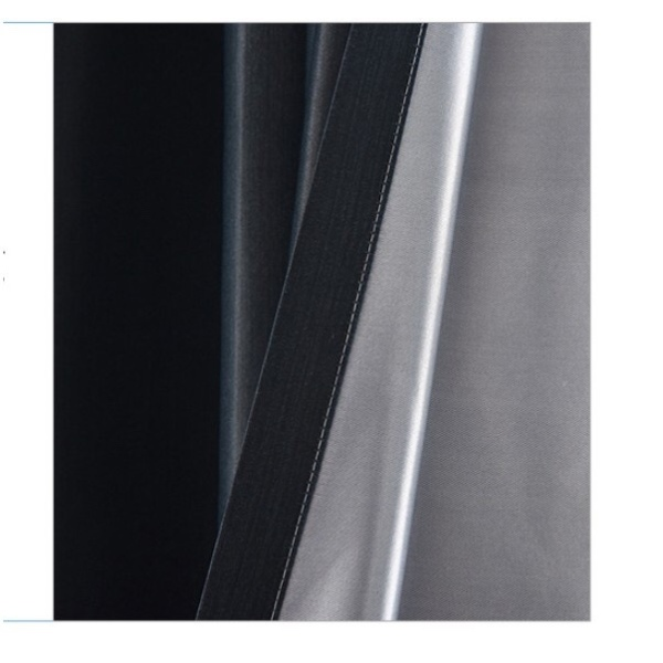 Rèm vải dày che nắng tốt cách nhiệt lá chuối nền đen 3m x 2m cao