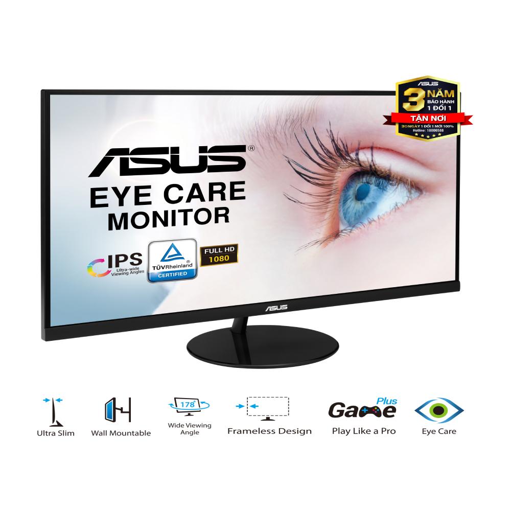 """Màn Hình Siêu Mỏng ASUS VL249HE 24"""" IPS Full HD 2 Loa Siêu Mỏng Bảo Vệ Mắt"""