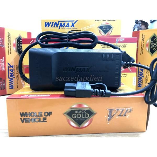 Mua Sạc Xe Điện 60V20AH WINMAX Chống Phồng Bình Tự Ngắt Điện Khi Đầy (Vespa, gogo, xmen, zoomer...xe 5 bình)