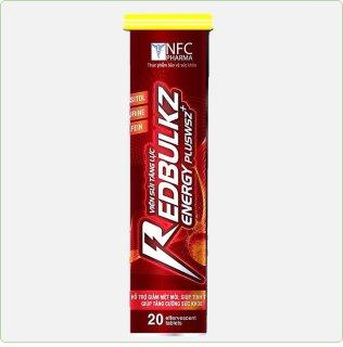 Viên Sủi Tăng Lực RedBulkz- Giúp Bổ Sung Vitamin Nhóm B, Taurine,Lysine Tăng Sức Đề Kháng,Giảm Mệt Mỏi Căng Thẳng-Tuýp 20 viên 4g thumbnail