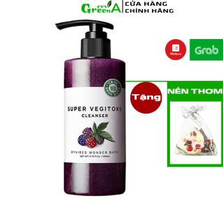 Sữa Rửa Mặt Rau Củ Thải Độc Tẩy Trang Rửa Mặt 3 Trong 1 Byvibes Wonder Bath Super Vegitoks Cleanser 300ml [TÍM] thumbnail