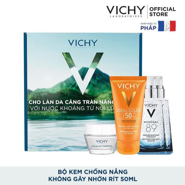 Bộ sản phẩm chăm sóc và bảo vệ da toàn diện Vichy Ideal Soleil Box tốt nhất
