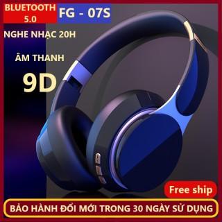 Chụp Tai Bluetooth FG -07S. Nghe Nhạc 20h, Pin 400mAh, Âm Thanh 9D. có Míc đàm thoại. 3 Phương thức Kết nối, Dây kết Nối, Bluetooth 5.0, Phát Nhạc thẻ Nhớ. Bảo Hành 1 Đổi 1 Miễn Phí Trong 30 Ngày Sử dụng thumbnail