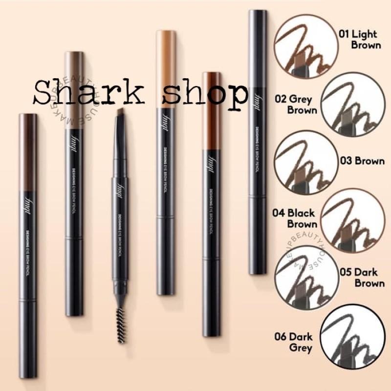 Chì Kẻ Mày 2 Đầu The Face Shop Designing Eyebrow Pencil 3g nhập khẩu