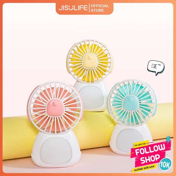 Quạt mini tích điện đáng yêu sạc điện nhanh kiêm đèn ngủ thông minh Jisulife F3 – Quạt điện nhỏ để bàn hoạt động yên tĩnh liên tục 24 giờ không gây ồn (Bảo hành 12 tháng)