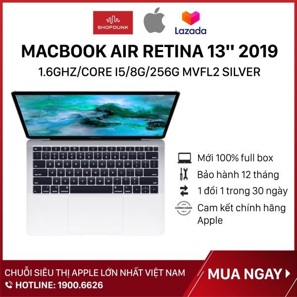 Bảng giá Laptop Macbook Air Retina 13 inch 2019 1.6GHz/core i5/8G/256G, Silver MVFL2, Hàng chính hãng Apple, Hàng mới 100%, Nguyên seal, Bảo hành 12 tháng - Shopdunk Phong Vũ
