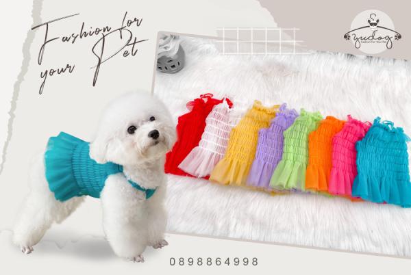 Đầm lưới nhúng dành cho chó mèo thú cưng yudog